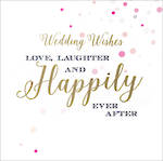 Wedding Card Velvet Ink Happily