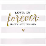 Anniversary Card Velvet Ink Love is Forever