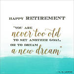 Retirement Card Velvet Ink New Dream