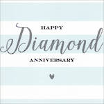 Anniversary Card 60th Diamond Velvet Ink
