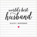 Husband Birthday Card Velvet Ink World's Best