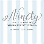 Birthday Age Card 90 Male Velvet Ink