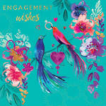 Engagement Card Lemongrass Love Birds