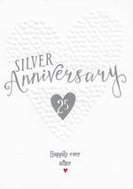 Anniversary Card 25th Silver Ever After