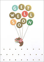 Get Well Card Balloons Bear