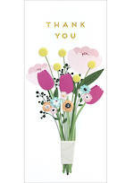 Thank You Card Small Slim Bouquet
