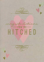 Wedding Card Congratulations You're Hitched