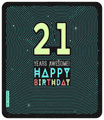 Birthday Age Card 21 Male Geronimo Large