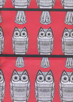 Sheet Wrap Owls Red