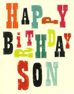 Son Birthday Card: Ink Press