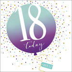Birthday Age Card 18 Female Pop Fizz Clink Square