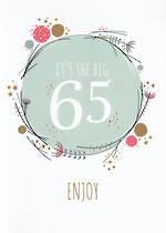 Birthday Age Card 65 Female Big One