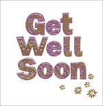 Get Well Card Woodland Text