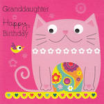 Grandaughter Birthday Card Cherry On Top Cat