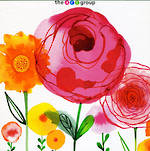 Blank Card: Flower Show - Pink & Yellow Flowers