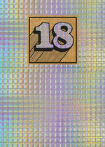 Birthday Age Card 18 General Cosmos Holographic
