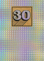 Birthday Age Card 30 General Cosmos Holographic