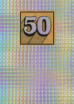 Birthday Age Card 50 General Cosmos Holographic