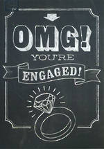 Engagement Card Chalk OMG
