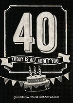 Age Card 40 General Chalk All About You