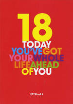 Birthday Age Card 18 Male Freshly Squeezed Whole Life Ahead