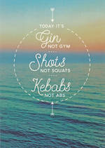 Quoteunquote Gin Shots Kebabs