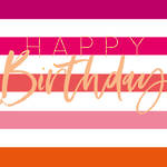 No78 Female Birthday Pink Stripes