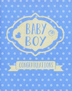 Baby Card Boy Polka Dots