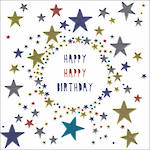 Platinum Happy Birthday Stars