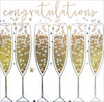 Congratulations Card Platinum Glasses