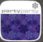 Blank Card: Checkout Square - Party Flower