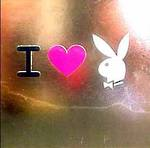 Blank Card: Playboy Square - I Love Bunny