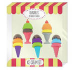Novelty Eraser Set Large Ice Creams