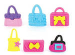 Novelty Eraser Set Large Handbag Purse