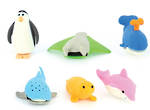 Novelty Eraser Set Large Ocean Creatures