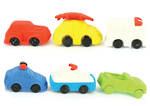 Novelty Eraser Set Large Cars