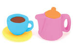 Novelty Eraser Set Small Tea