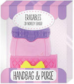 Novelty Eraser Set Small Handbag & Purse