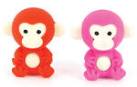 Novelty Eraser Set Small Monkeys