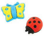 Novelty Eraser Set Small Bugs