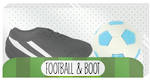 Novelty Eraser Set Small Football & Boot