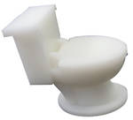 Novelty Eraser Set Small Toilet