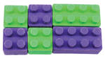 Novelty Eraser Set Small Building Bricks