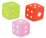 Novelty Eraser Set Small Dice