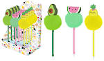 Happy Zoo Novelty Pen Fruit Display Of 12