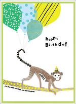 Party Popper Birthday Monkey Branch