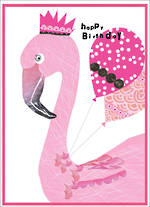 Party Popper Birthday Flamingo