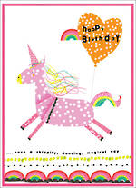 Party Popper Birthday Unicorn Skip