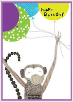 Party Popper Birthday Monkey