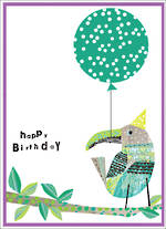 Party Popper Birthday Bird